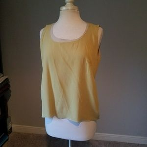 Akris Olive Silk Tank Top Medium